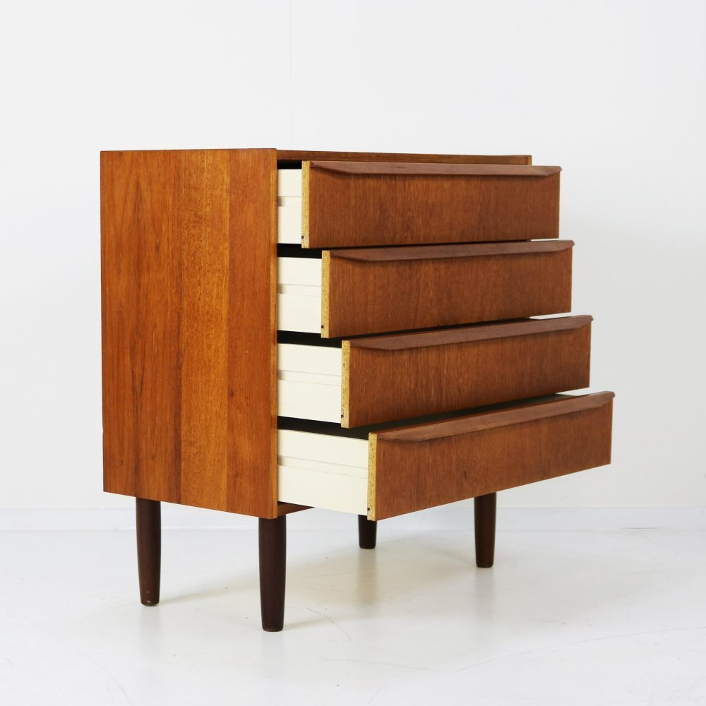 Danish small sideboard with four drawers