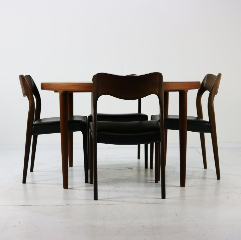 Four Danish dinner chairs by Niels Otto Møller