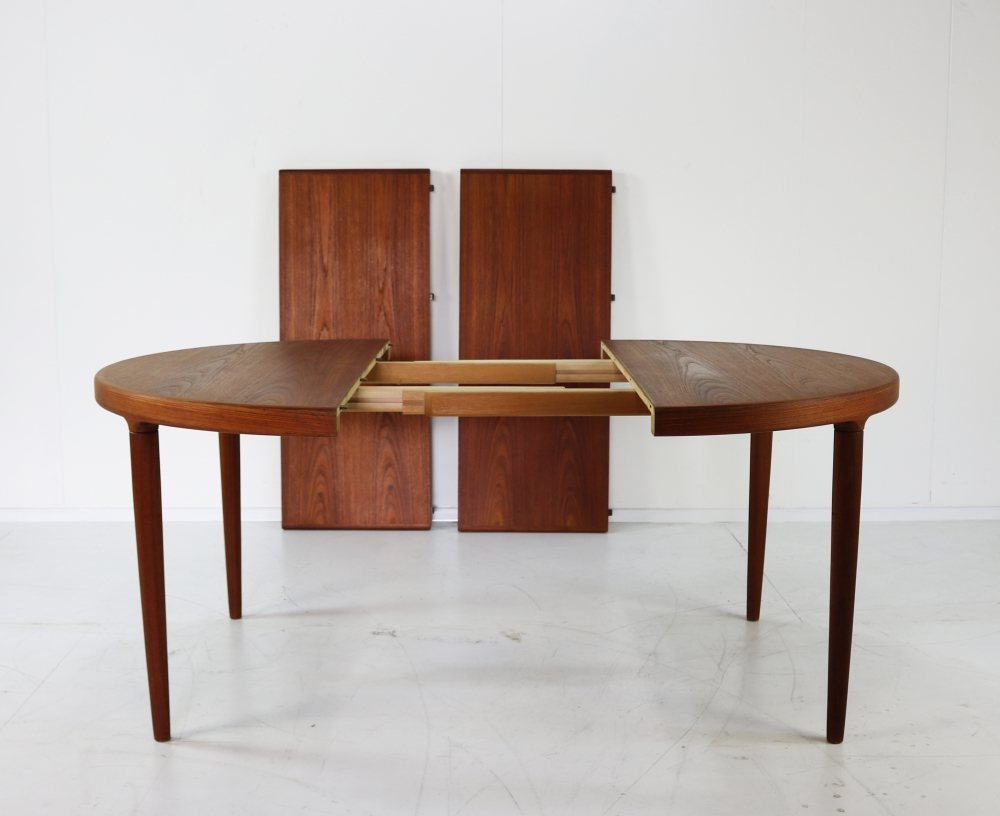 Teak Danish design extendable dining table