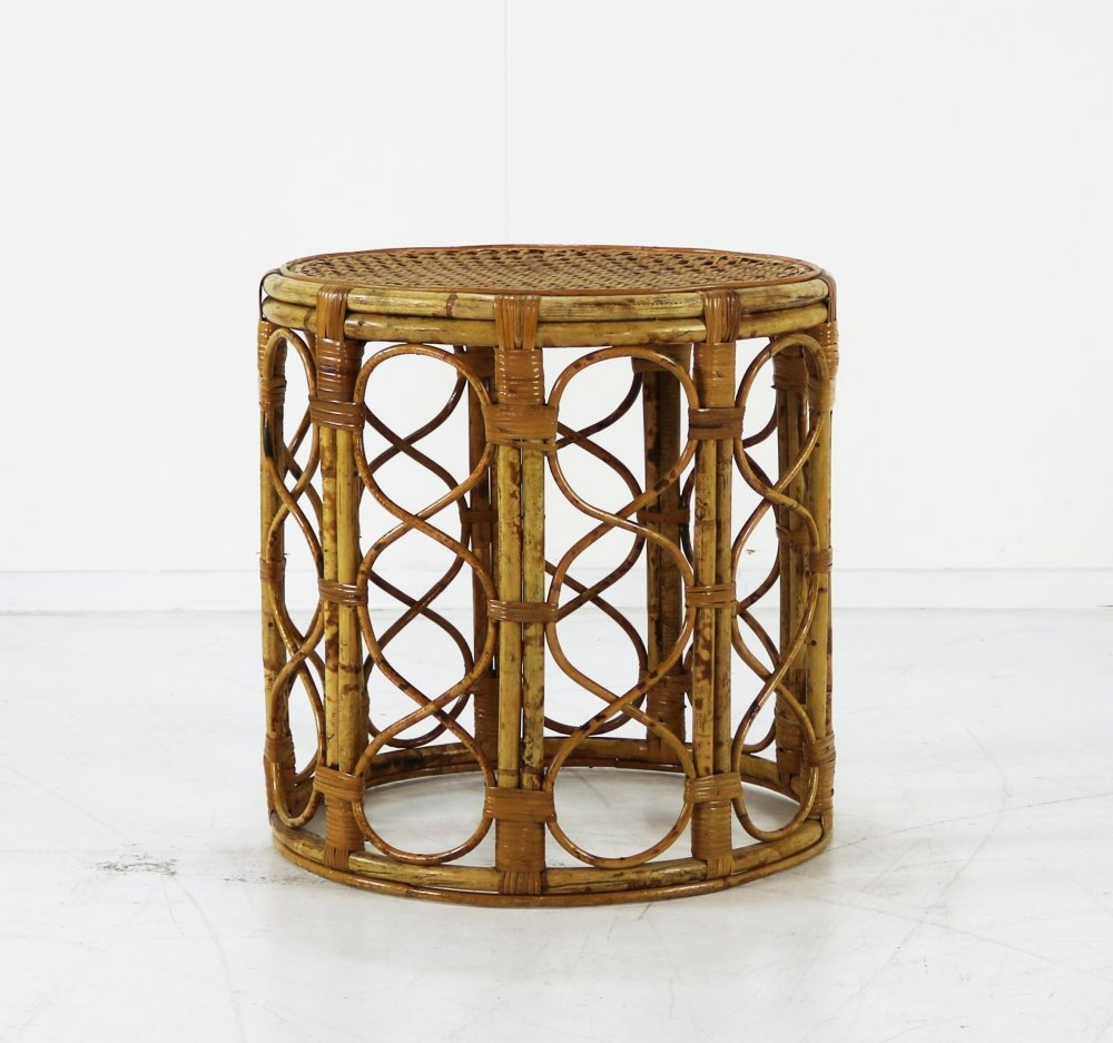 Small rattan side coffee table