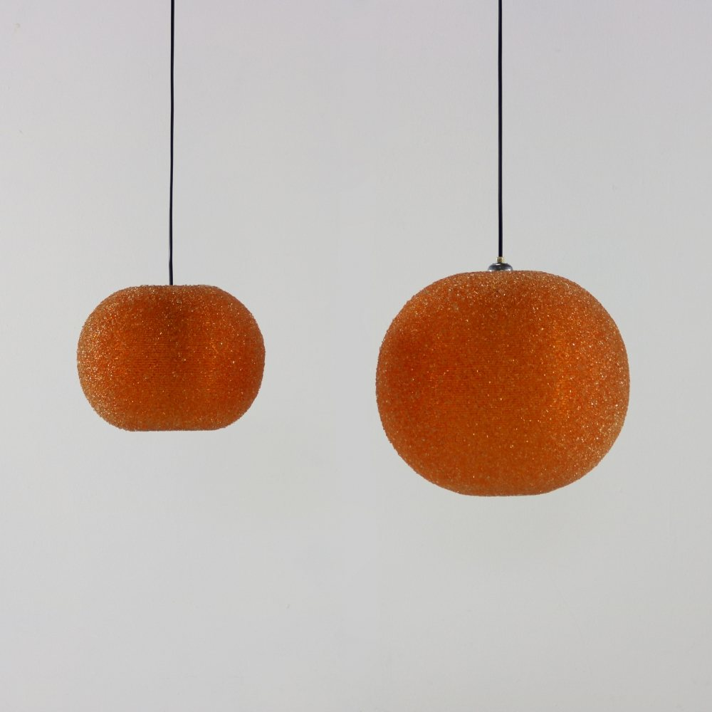 Set of two Rotaflex suger ball pendants