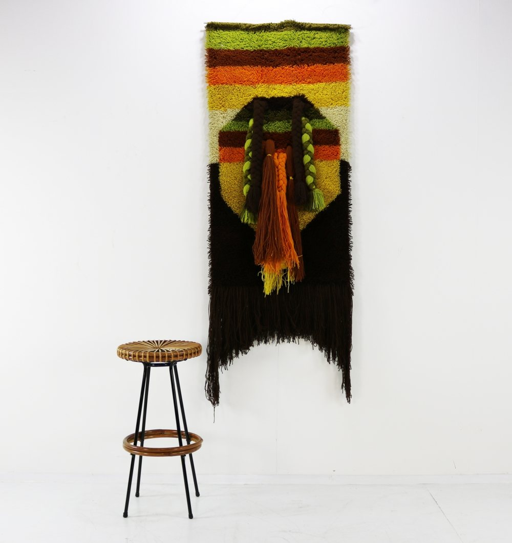 Sixties dralon colorful wall decoration