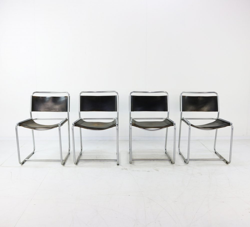 Four dinner chairs by Belgian designers Claire Bataille and Paul Ibens