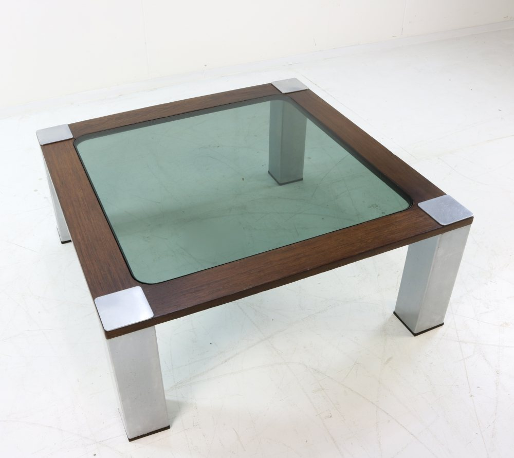 Seventies brutalist coffee table design