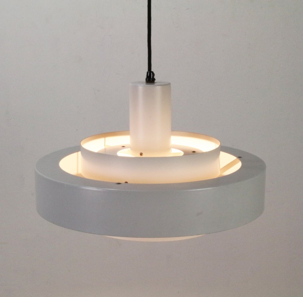 Danish grey pendant lighting by Jo Hammerborg for Fog and Morup
