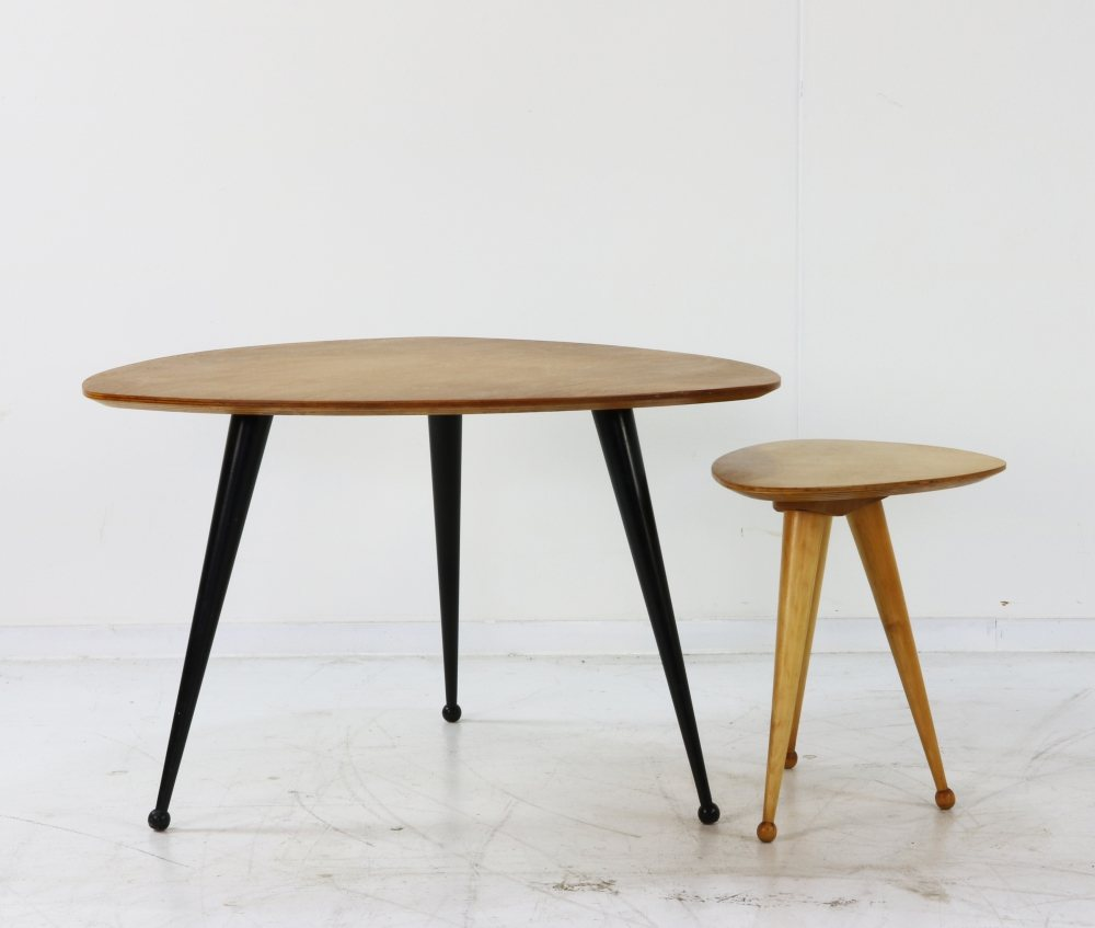 Coffee table by Cees braakman for Pastoe (Stool not available)