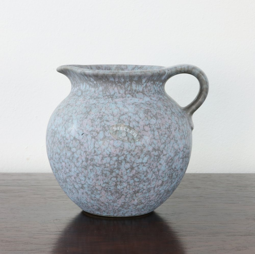Nice colorful ceramic pitcher made by Steuler