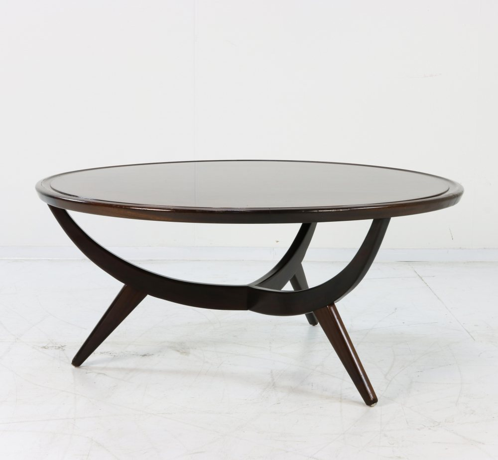 Coffee table by Patijn with wooden top