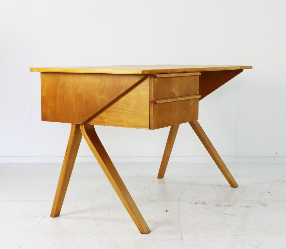 Small birchwood ladies writing desk by Cees Braakman for UMS Pastoe