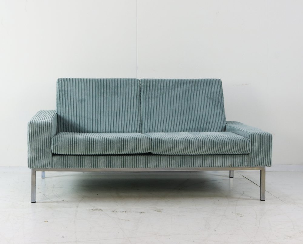Quality two seater with new velvet upholstery