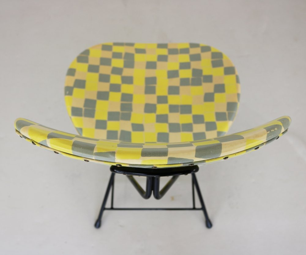 Fifties Rob Parry dining chair with beautiful fabric