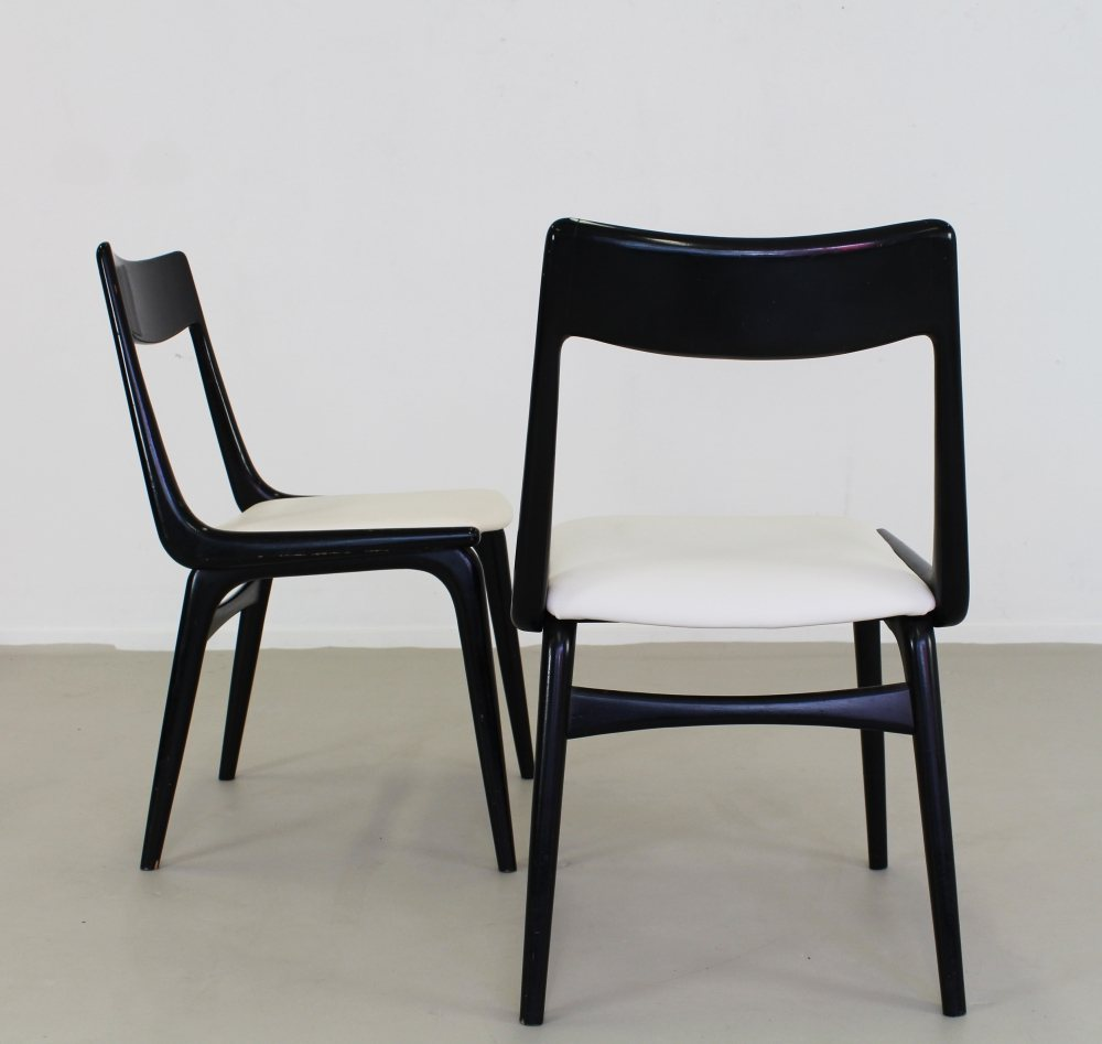 Six Danish design dinner chairs