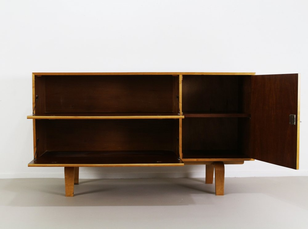 Small birchwood sideboard by Gouda Den Boer