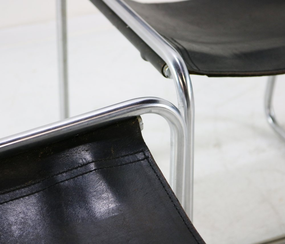 Belgian design dinner chairs by Claire Bataille for Spectrum Holland