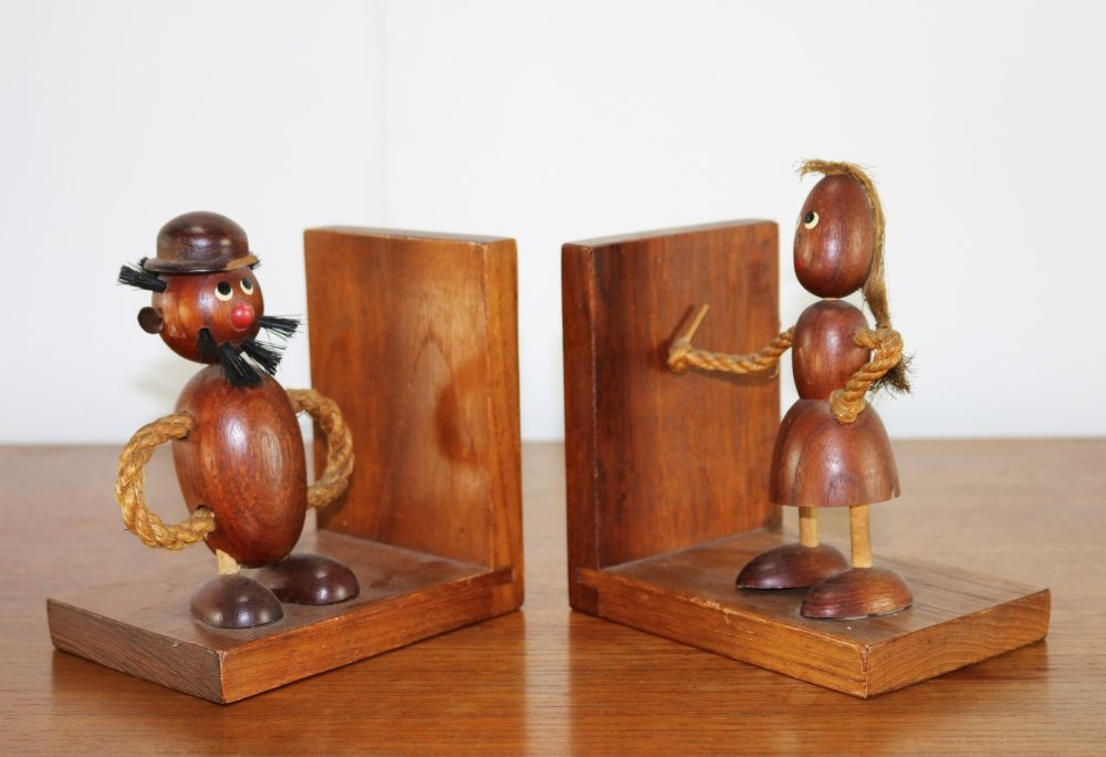 Two bookstands man and women