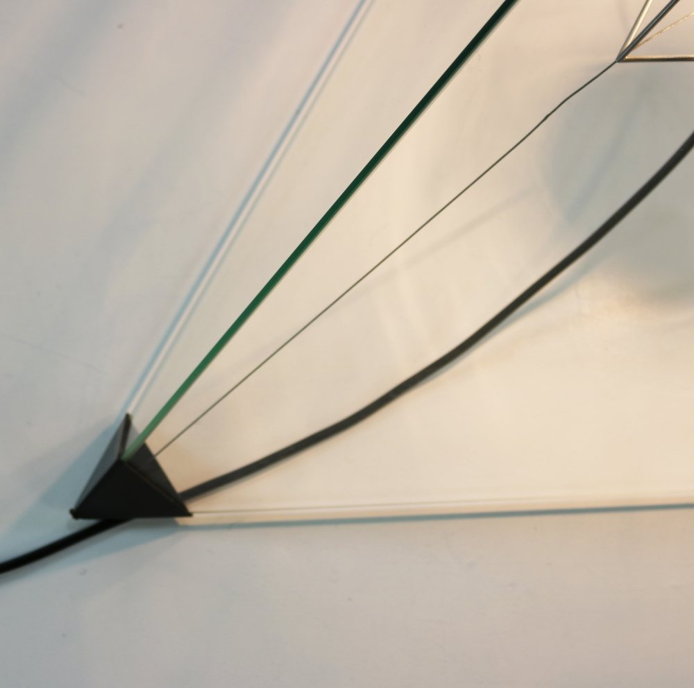 Larger tetrahedron floor lamp for Indoor Holland