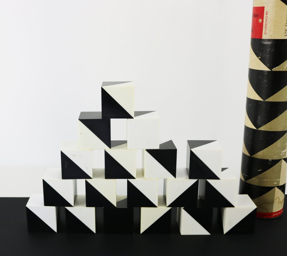 Playing cubes architectural design Fred Horowitz