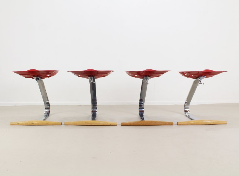 Four dining chair by the Castilioni