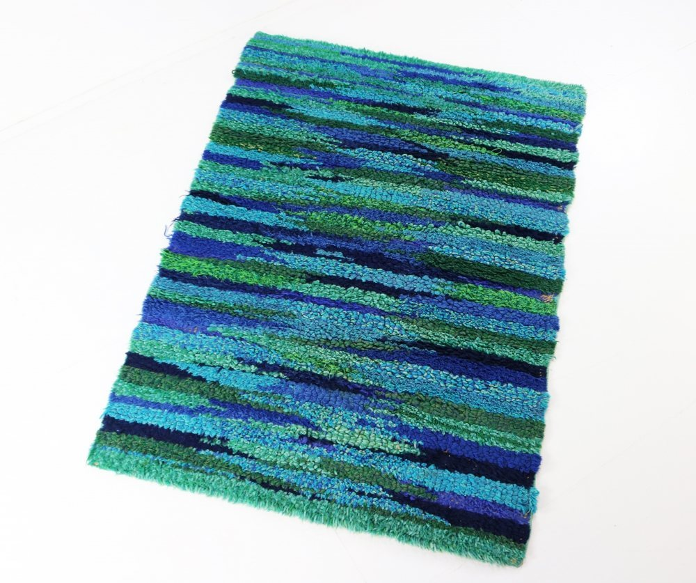 Colorful green blue sixties rug / carpet