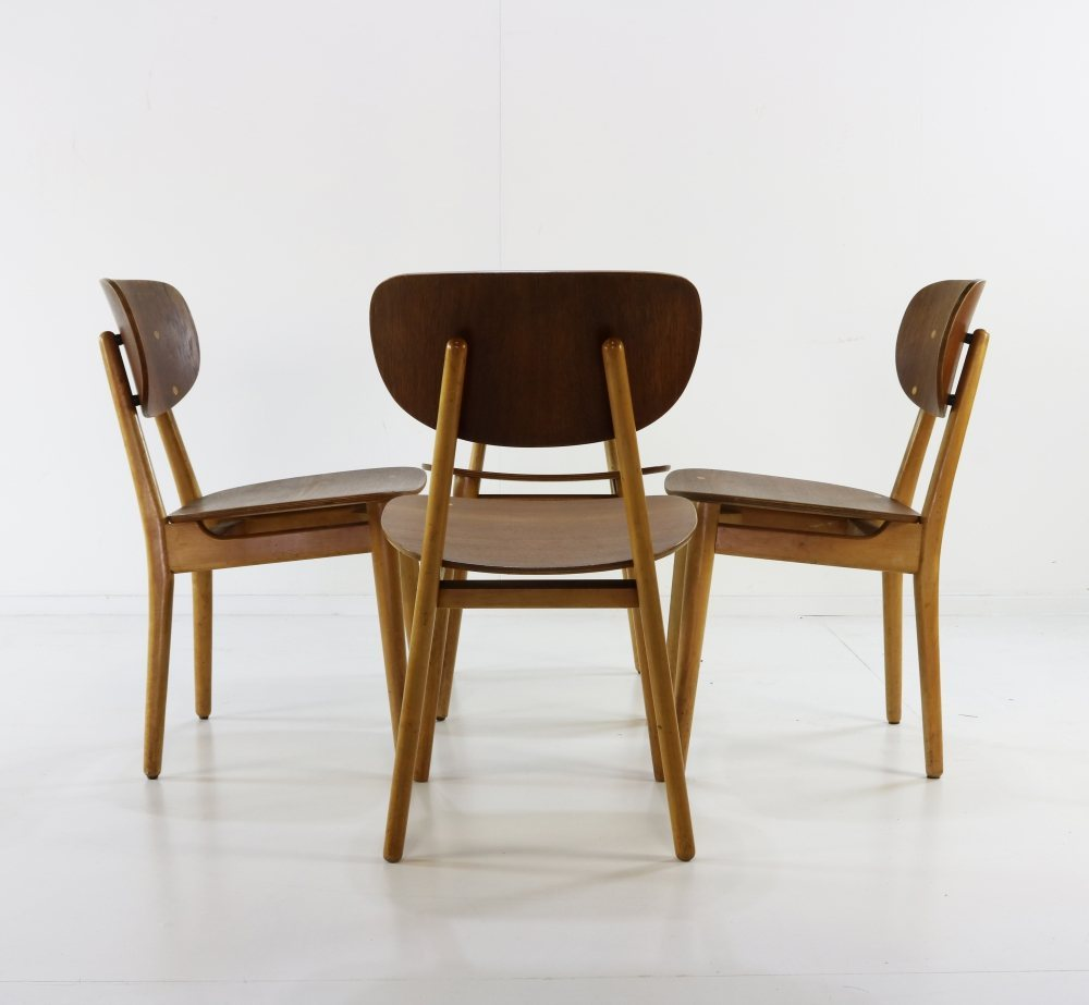 Four Cees Braakman dinner chairs for UMS Pastoe