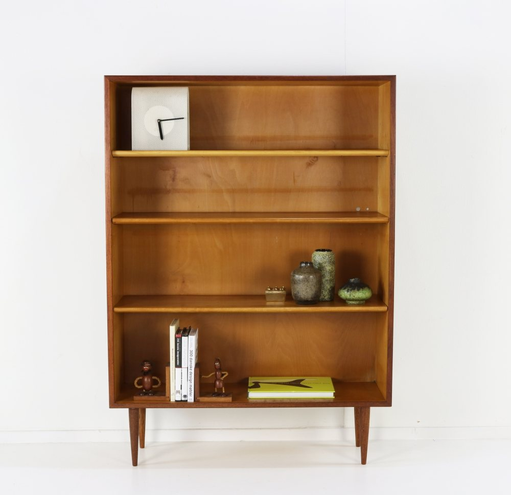 Danish design bookcase  in teak and birchwood