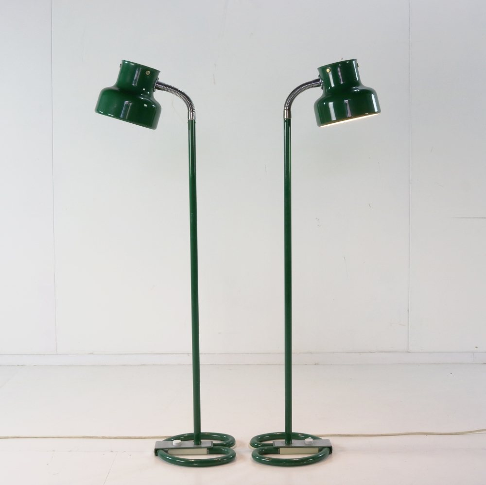 Bumbling green floor lamp by Anders Pehrson
