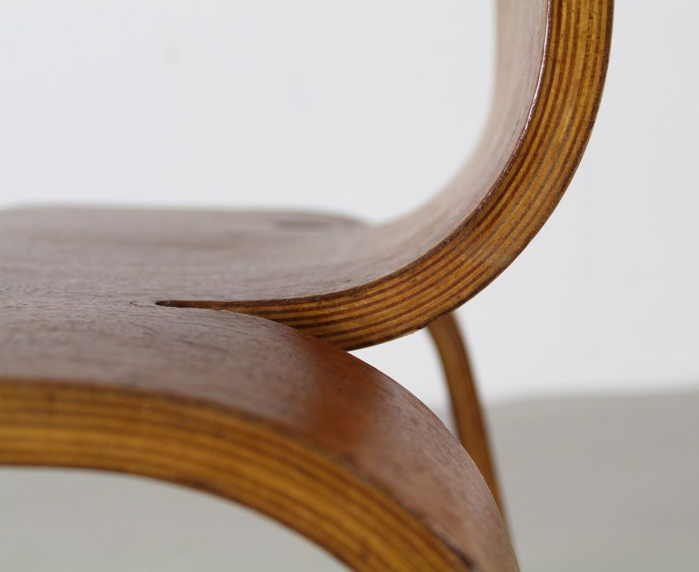 Famous bentwood design Bambi chair by Han Pieck