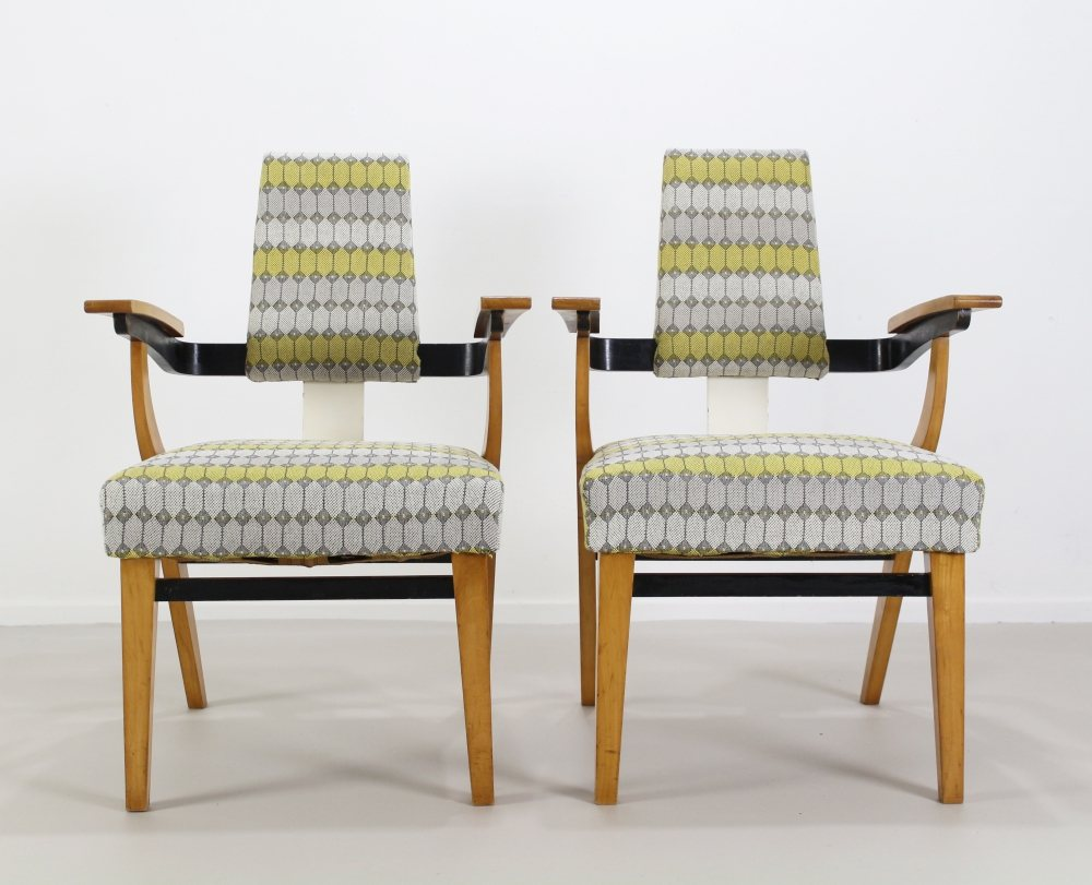 Art deco period lounge chairs with an elegant presence