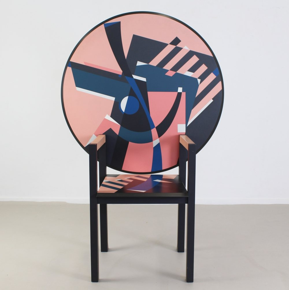 Table and seat and seat and table by Alessandro Mendini for Zanotta