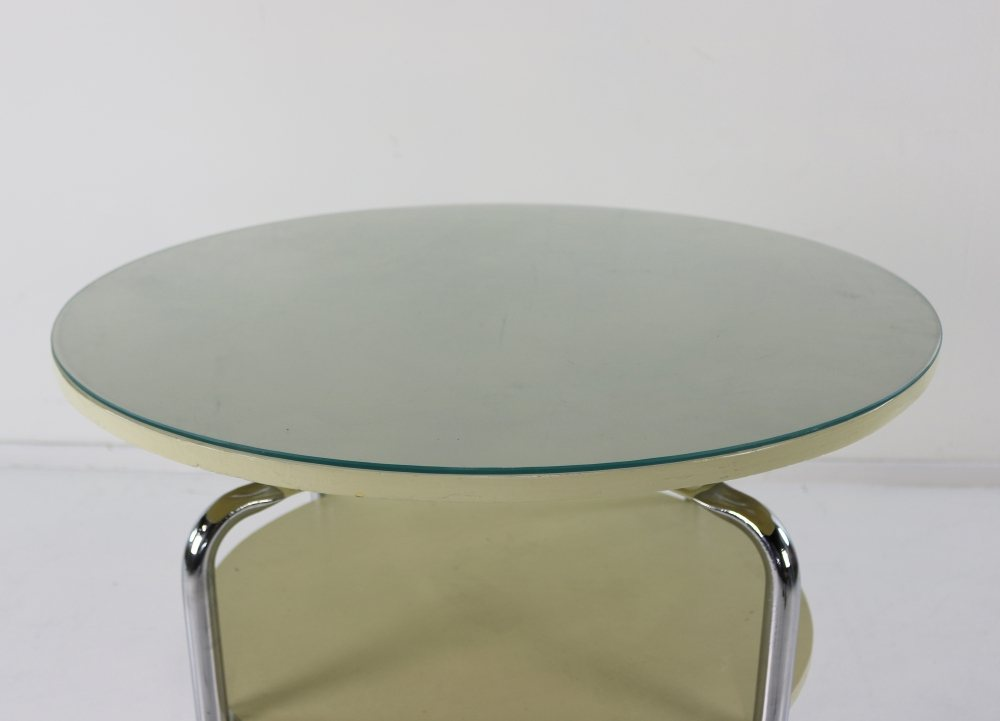 Very special raised coffee lounge table by Gispen Holland