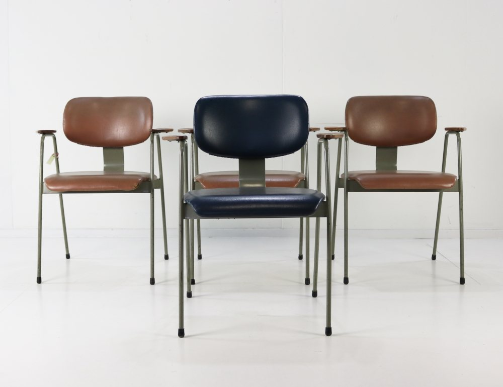 Set of four Willy van der Meeren F1 dining chairs for Tubax