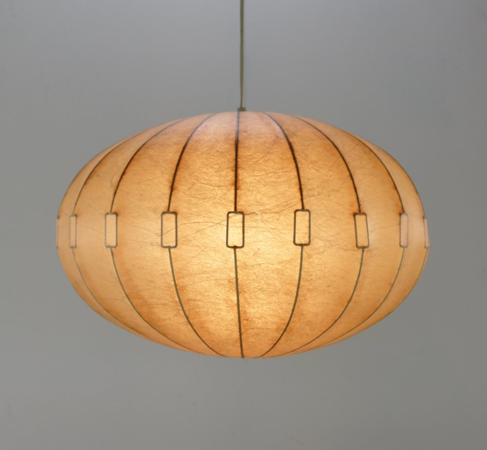 Very special sixties cocoon hanging lamp by Achille Castiglioni