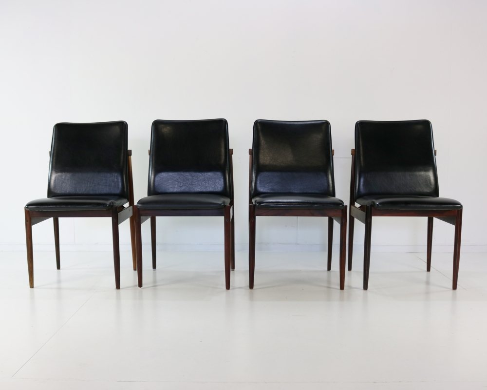 Sixties rosewood dining chairs for Thereca Holland