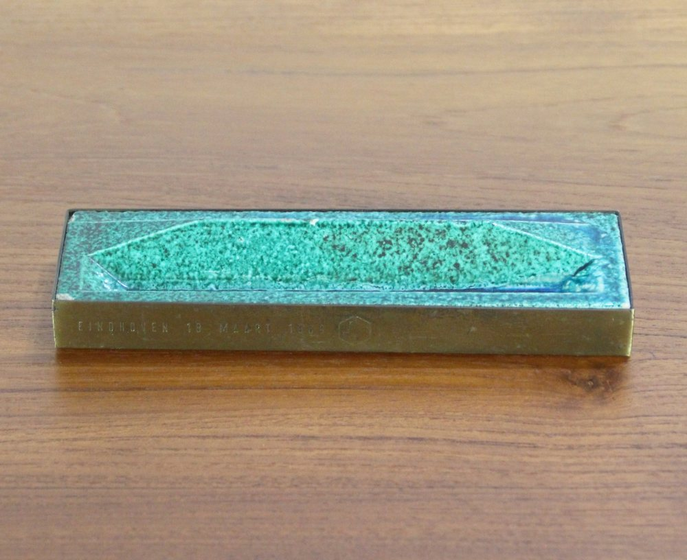 Gio Ponti glazed penholder tile from The Bijenkorf Eindhoven