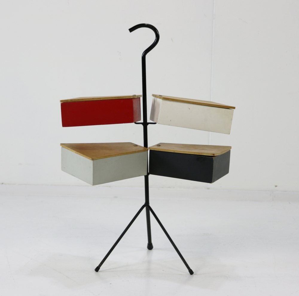 Metalux fifties sewing box stand