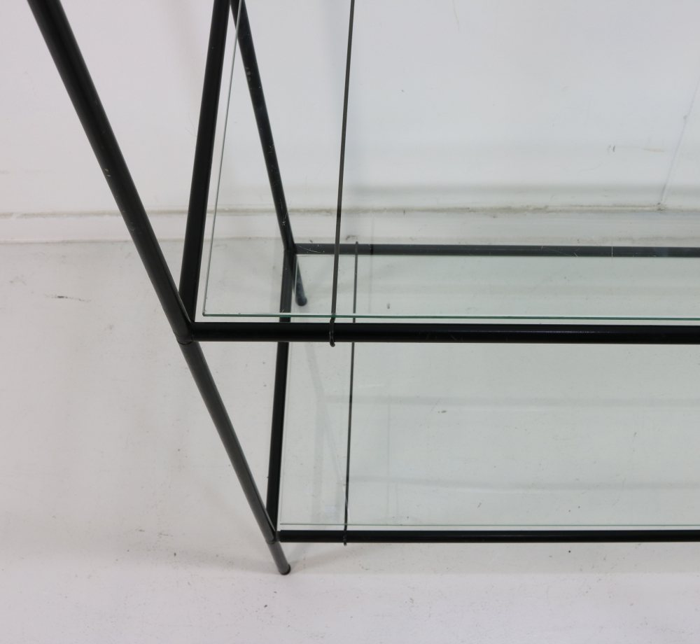 Sixties glass cabinet by Poul Cadovius model Abstracta