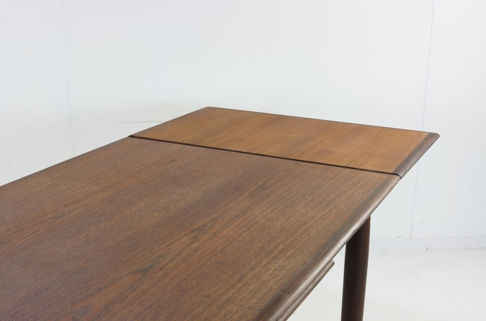 Danish design teak dining table with two extensions