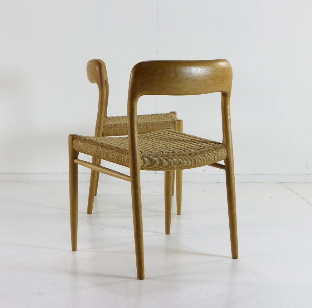 Two danish design dinner chairs by Niels Otto Møller