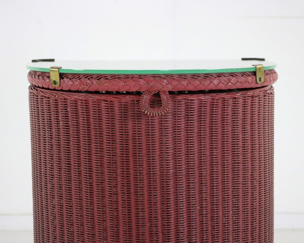 Loyd loom laundry basket with glass top