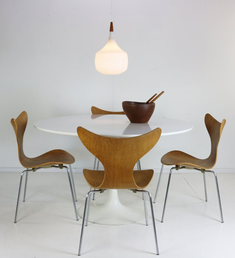 Danish large pendant lighting with opal glass by Holmegaard