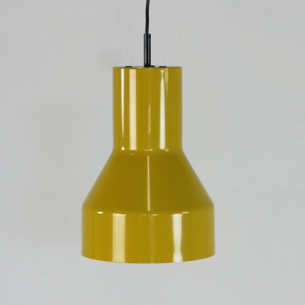Seventies enamelled peding light