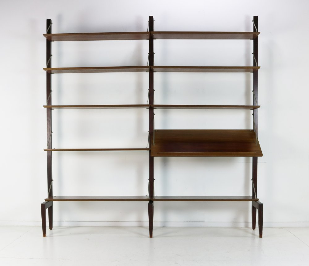 Rosewood free standing book storage system for Fristho