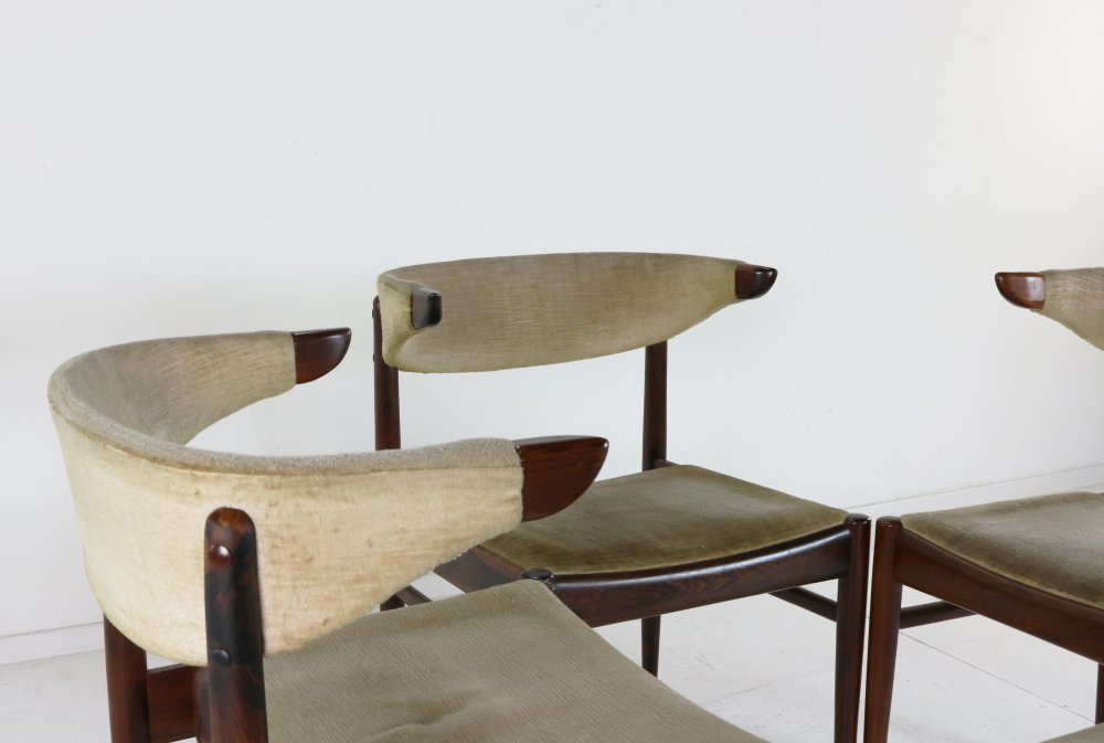 Four dining chairs by Louis van Teeffelen for AWA Holland