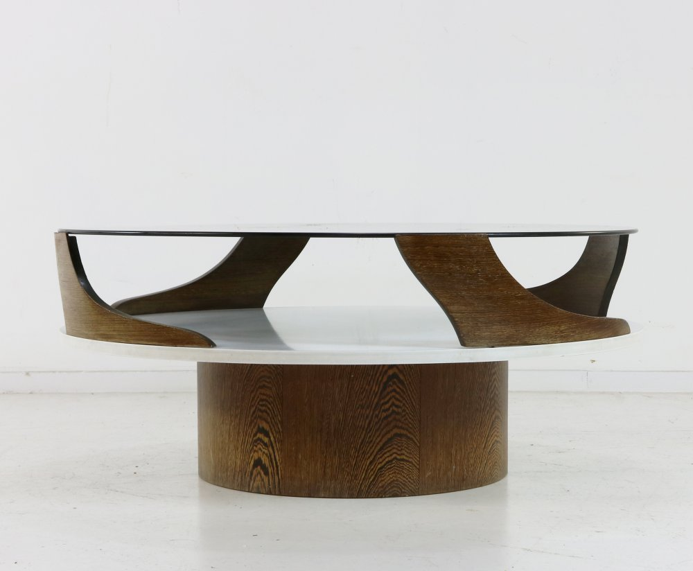 Sixties round space age coffee table