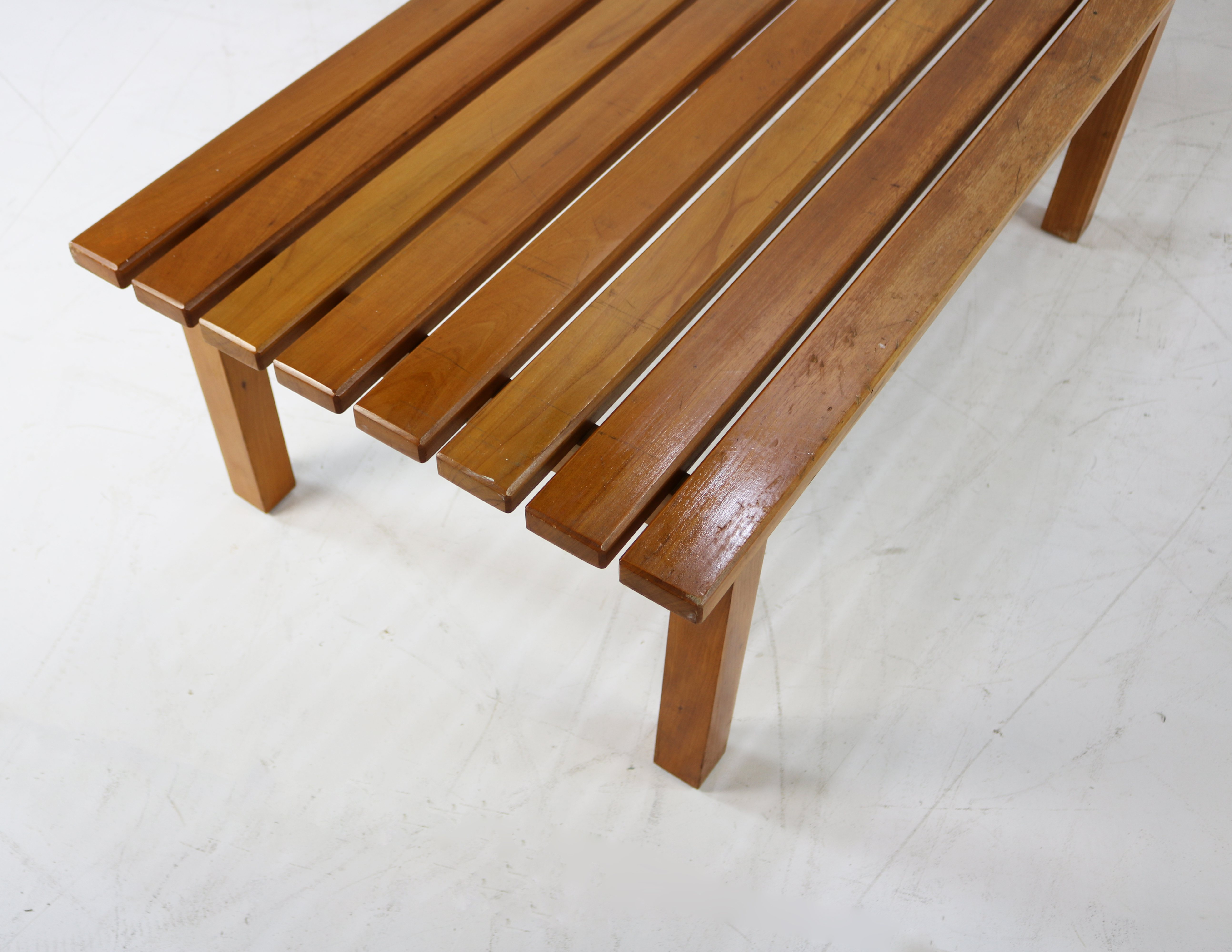 Prime Mid Century Wooden Eight Slat Bench Creativecarmelina Interior Chair Design Creativecarmelinacom